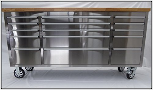 72' Wide 15 Drawer Stainless Steel...