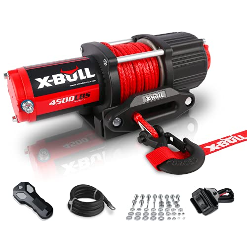 X-BULL 12V 4500LBS Synthetic Rope Electric...