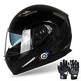 FreedConn Motorcycle Bluetooth Helmet, BM2-S...