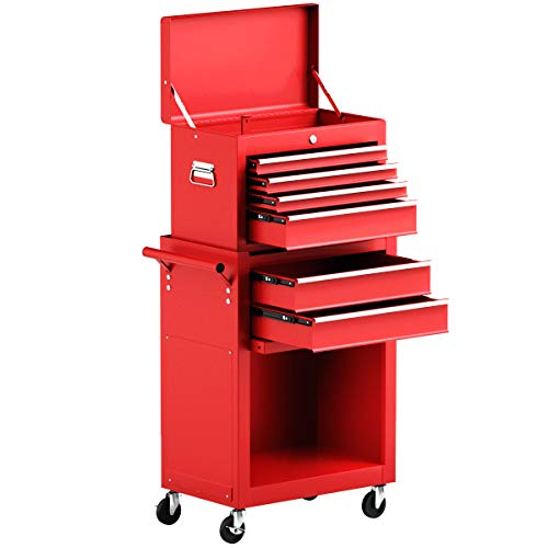 Goplus 6-Drawer Rolling Tool Chest Removable...