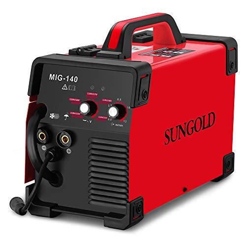 SUNGOLDPOWER MIG Welder 140A Gas and Gasless...