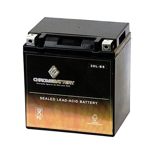 Chrome Battery YTX30L-BS High Performance -...