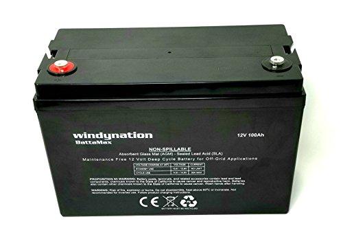 WindyNation 100 amp-Hour 100AH 12V 12 Volt...