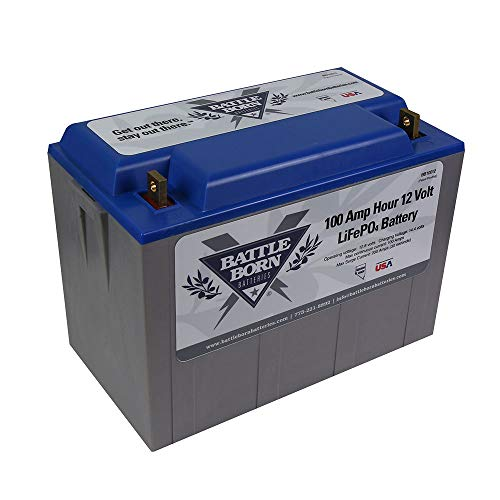 Battle Born LiFePO4 Deep Cycle Battery -...