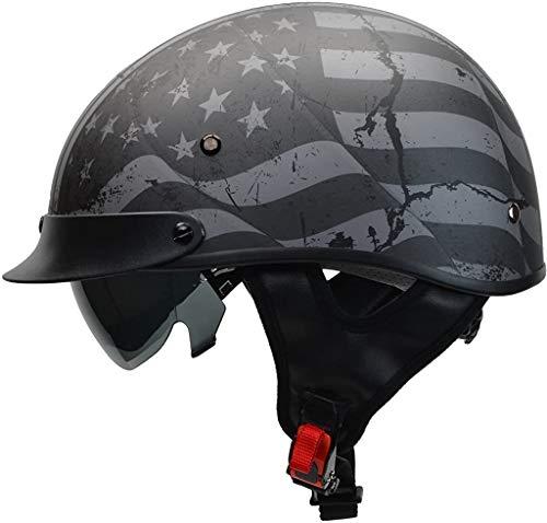 Vega Helmets Warrior Motorcycle Half Helmet...