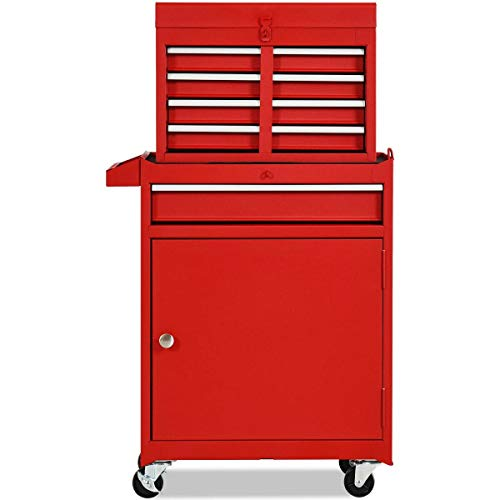 LHONE 2 in 1 Rolling Tool Chest, 5 Drawer...