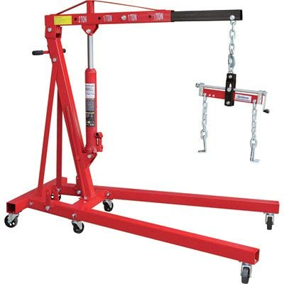 Strongway Hydraulic Engine Hoist with Load...