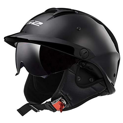 LS2 Helmets Rebellion Motorcycle Half Helmet...