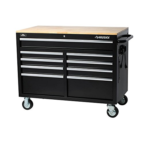 Husky Extra Deep 46 in. 9-Drawer Mobile...