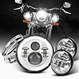 Dot Appoved Chrome 7inch LED Headlight with...
