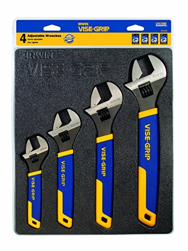 IRWIN VISE-GRIP Adjustable Wrench Set,...