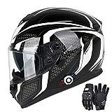 FreedConn Bluetooth Motorcycle Helmet DOT...