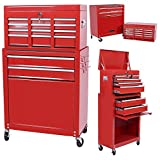 Handyman Heavy Duty Steel Toolbox with Chests...