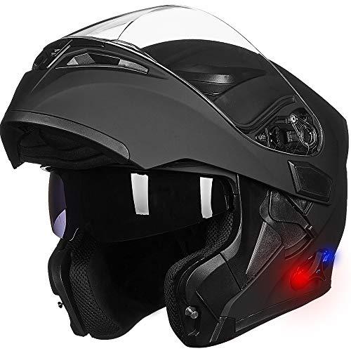 LM Bluetooth Motorcycle Helmet Modular Flip...