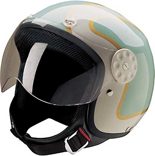 HCI Open Face Fiberglass Motorcycle Helmet...