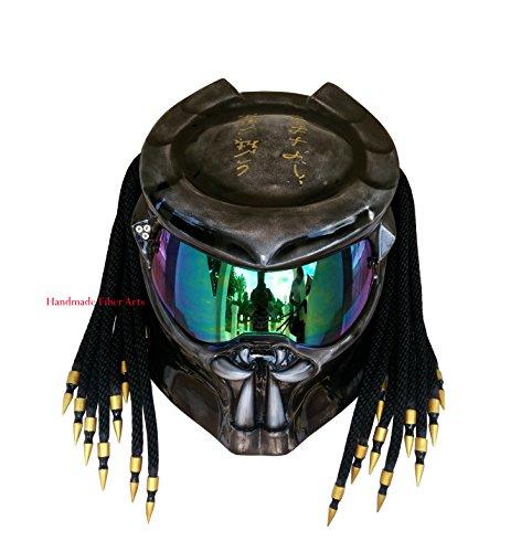 Custom Predator Motorcycle Helmet (M = 57-58...