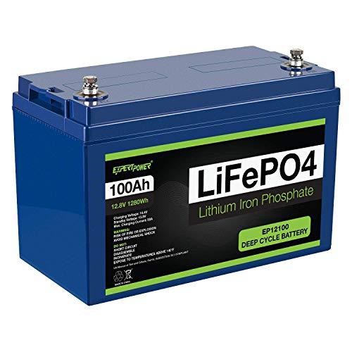 ExpertPower 12V 100Ah Lithium LiFePO4 Deep...