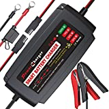 BMK 12V 5A Smart Battery Charger Portable...