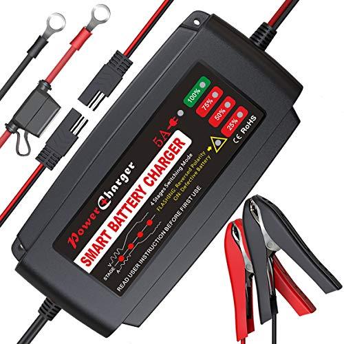 BMK 12V 5A Smart Battery Charger Portable...