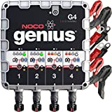 NOCO Genius G4 6V/12V 4.4 Amp 4-Bank Battery...