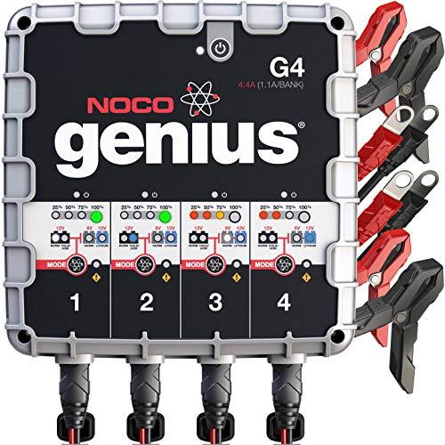 NOCO Genius G4 6V/12V 4.4 Amp 4-Bank Battery...