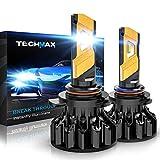 TECHMAX 9012 LED Bulb, HIR2 6500K Xenon White...