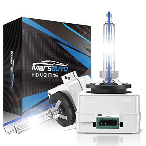 Marsauto D3S HID Headlight Bulbs, 6000K Cold...