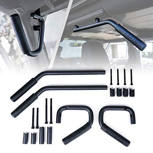 Xprite Black Aluminum Front & Rear Steel Grab...