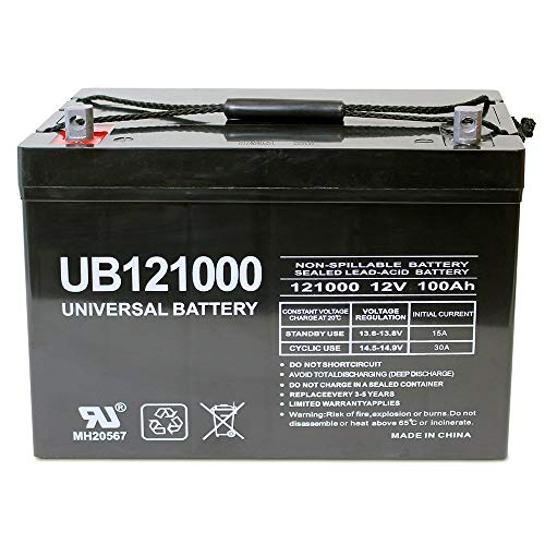 Universal Power Group 12V 100Ah Solar Wind...