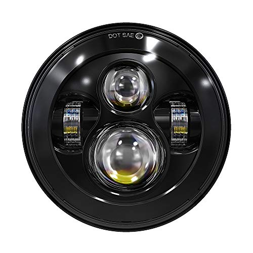 TRUCKMALL 7 inch LED Headlight for Touring...