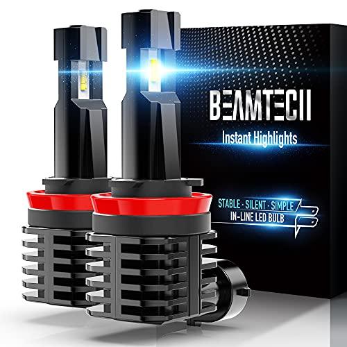 BEAMTECH H11 LED Bulb, Fanless In Line H8 H9...