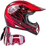 Typhoon Adult ATV MX Helmet Goggles Gloves...