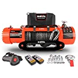 X-BULL 12V Synthetic Rope Winch-13000 lb....