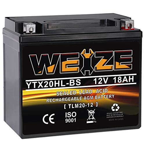 Weize YTX20HL-BS Battery, High Performance -...