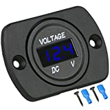 DC 12V 24V Car Voltmeter LED Digital Display...