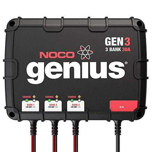 NOCO Genius GENM3, 3-Bank, 12-Amp (4-Amp Per...