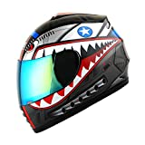 WOW Motorcycle Full Face Helmet Street Bike...