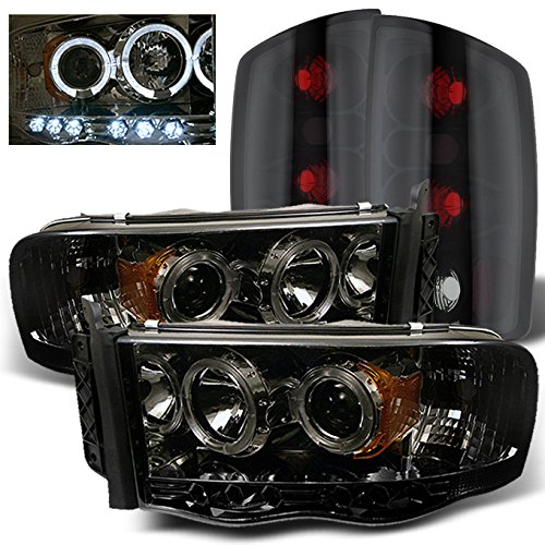 For Dodge Ram 1500 2500 3500 Smoked Lens Halo...