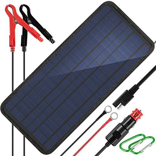 KINGSOLAR 10W 12v Solar Car Battery Charger,...