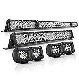 LED Light Bar Kit, Autofeel 52 Inch + 22 Inch...
