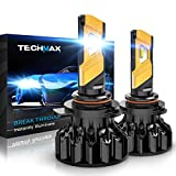 TECHMAX 9012 LED Headlight Bulb, HIR2 12000Lm...