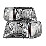 for Ranger 93-97 Crystal Headlights With...