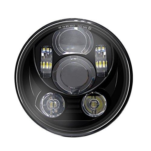 Wisamic 5-3/4 5.75 inch LED Headlight -...