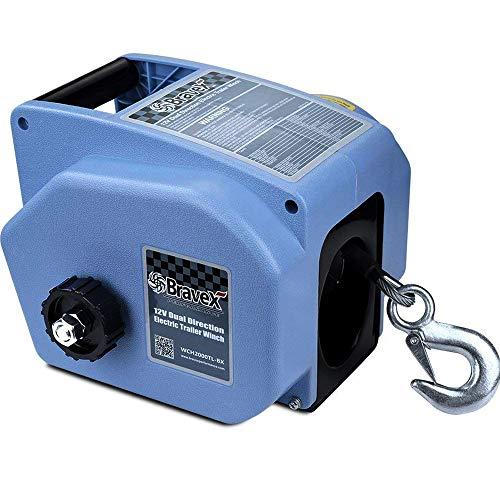 Bravex Electric Winch, Reversible Portable...