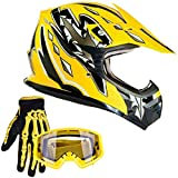 Typhoon Youth Kids Offroad Gear Combo Helmet...