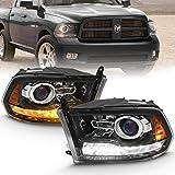 AmeriLite Jet Black Projector Headlights For...