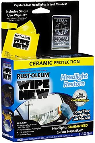 Rust-Oleum HDLCAL Wipe New Headlight Restore,...