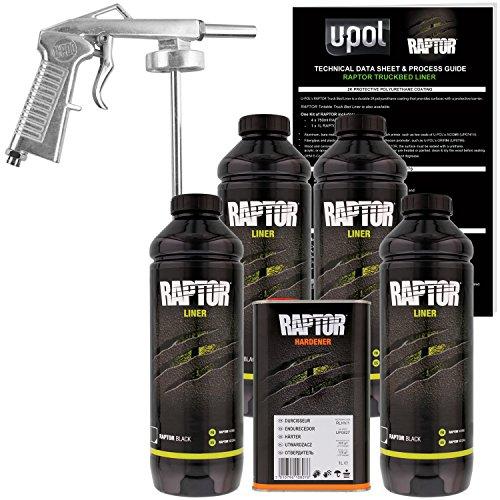 U-Pol Raptor Black Urethane Spray-On Truck...