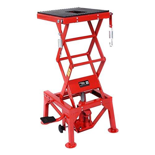 Goplus 300lb Motorcycle Lift Table Hydraulic...