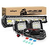 Nilight ZH412 Bar Set, 20 Inch 420W Triple...